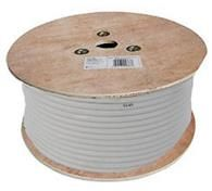100m RG6 Type Coaxial Cable - White